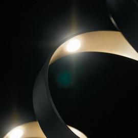 Applique da parete per interno 9W a led nero SPIRAL. Acquista articoli per l'illuminazione a prezzi vantaggiosi.