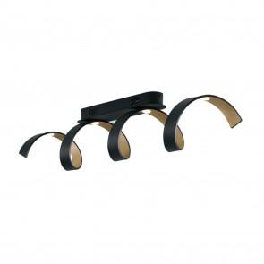 Plafoniera da soffitto 20W a led nero SPIRAL. Acquista articoli per l'illuminazione a prezzi vantaggiosi