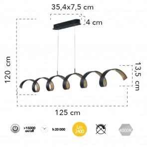 LED-HELIX-S6 NER - Suspension moderne...