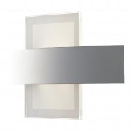 Applique da parete per interno 10W a led bianco STEVENS. Punto luce moderno in metallo e vetro.