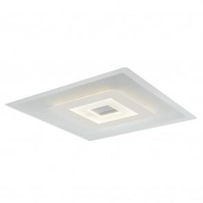 Plafoniera da soffitto per interno 38W bianco STEVENS. Punto luce moderno con struttura in metallo e vetro.
