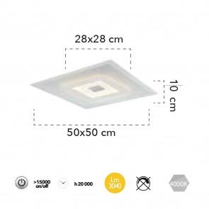 Lampe en métal acrylique de...