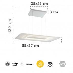 L'acrylique blanc suspendu en métal...