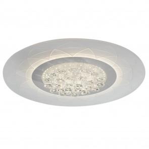Plafoniera da soffitto per interno 42W a led bianca Tibet. Struttura moderna e raffinata in metallo e acrilico.