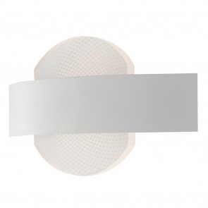 Applique da parete per interno a led 10W bianca ALWAYS. Punto luce moderno di forma circolare in metallo e acrilico