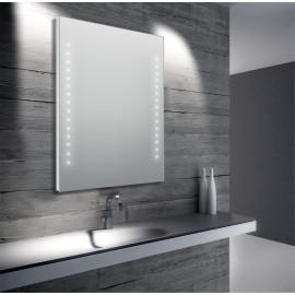 Miroir de salle de bain 60 x 80 cm (L x H) avec éclairage LED
