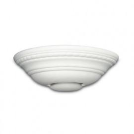166/01200 - Applique Ceramica con Greca Verniciabile Emissione di Luce Verso Alto e Basso R7S