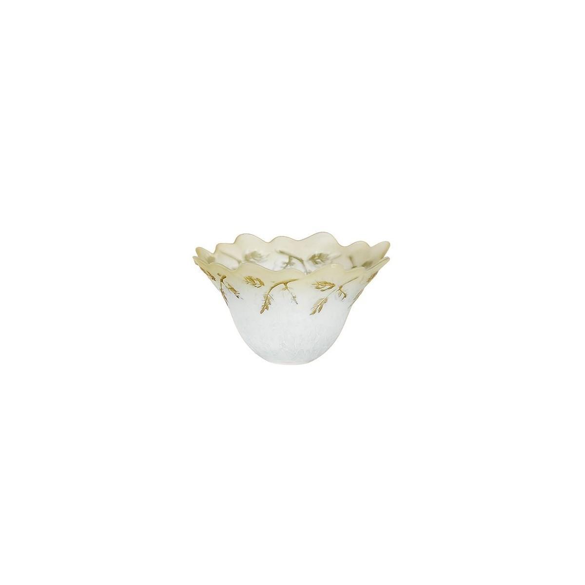 28011303201550 - Abat-jour en verre avec décoration florale ambre F30