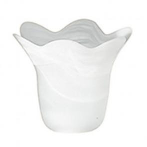 90081403202000 - Abat-jour avec bord ondulé blanc albâtre verre F30