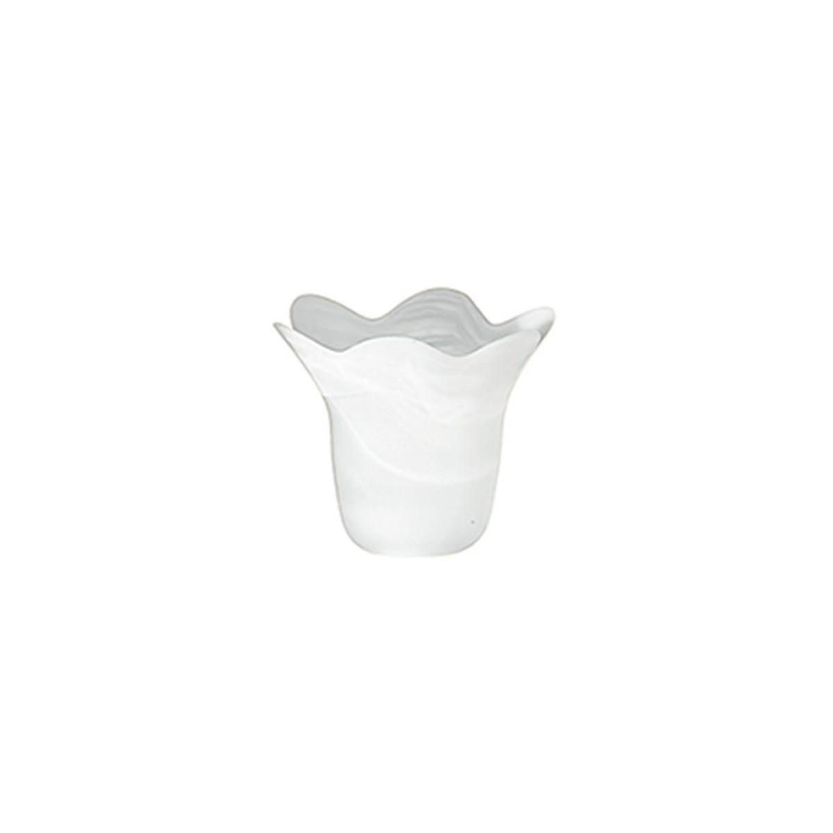 90081403202000 - Paralume Bordo Ondulato Vetro Alabastro Bianco F30