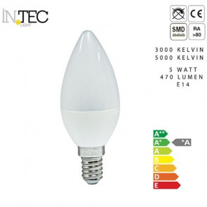 Ampoule 3000 5000 Bougie Kelvin Led E14