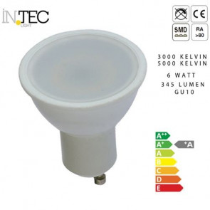 Ampoule LED 6 watts Chaud froid 3000 5000 GU10