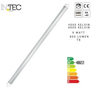 Lampadina Led 9 watt 4000 6000 T8