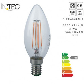 Ampoule LED quatre filaments 3 watts...