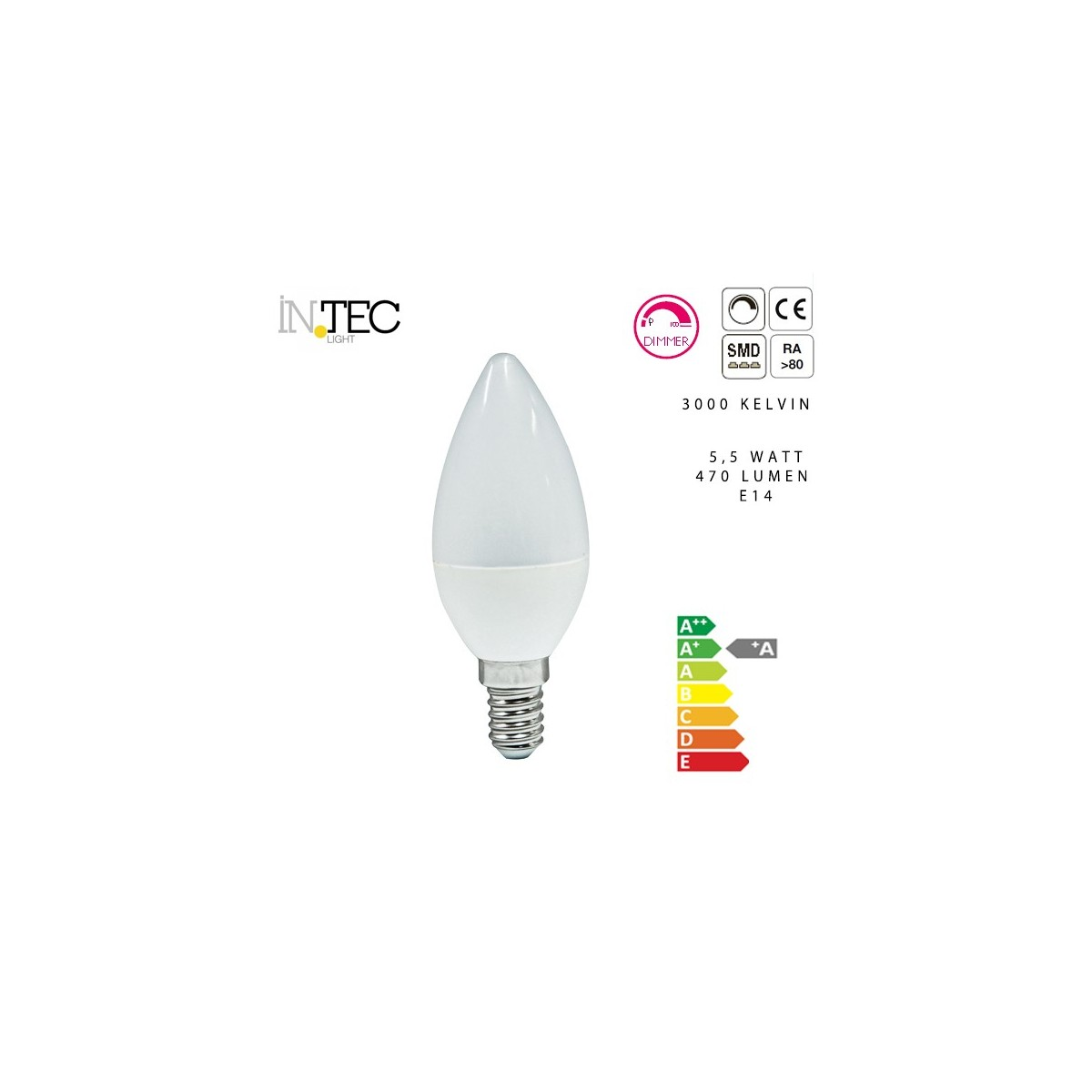 Lampadina a candela Led Dimmerabile 3000