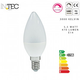 Ampoule bougie LED Dimmable 3000 5000
