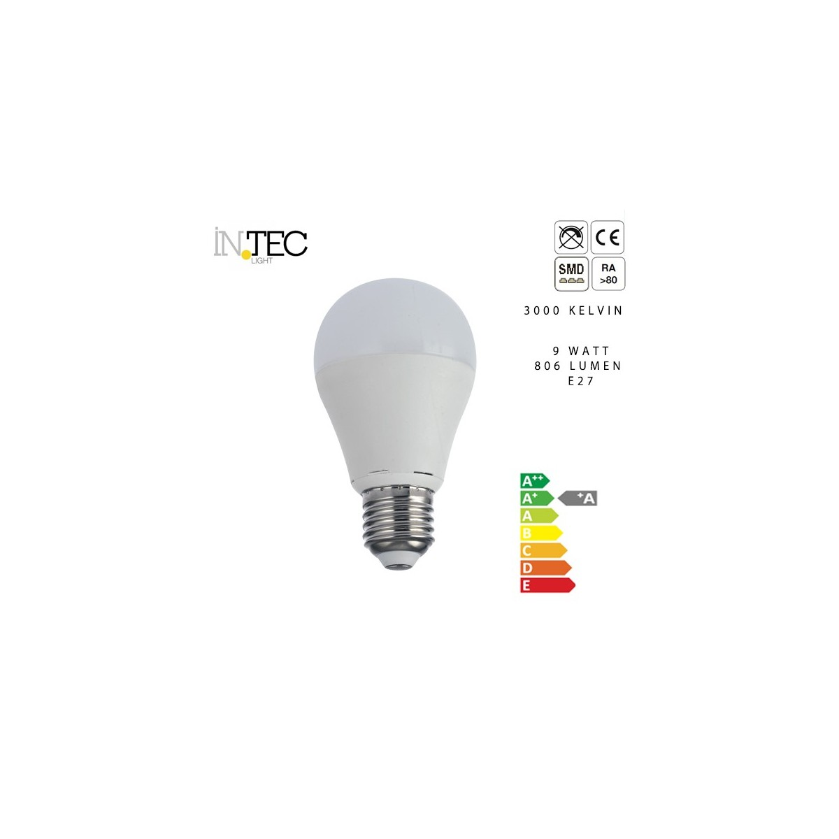 Lampadina Led 9 watt 3000 5000 kelvin