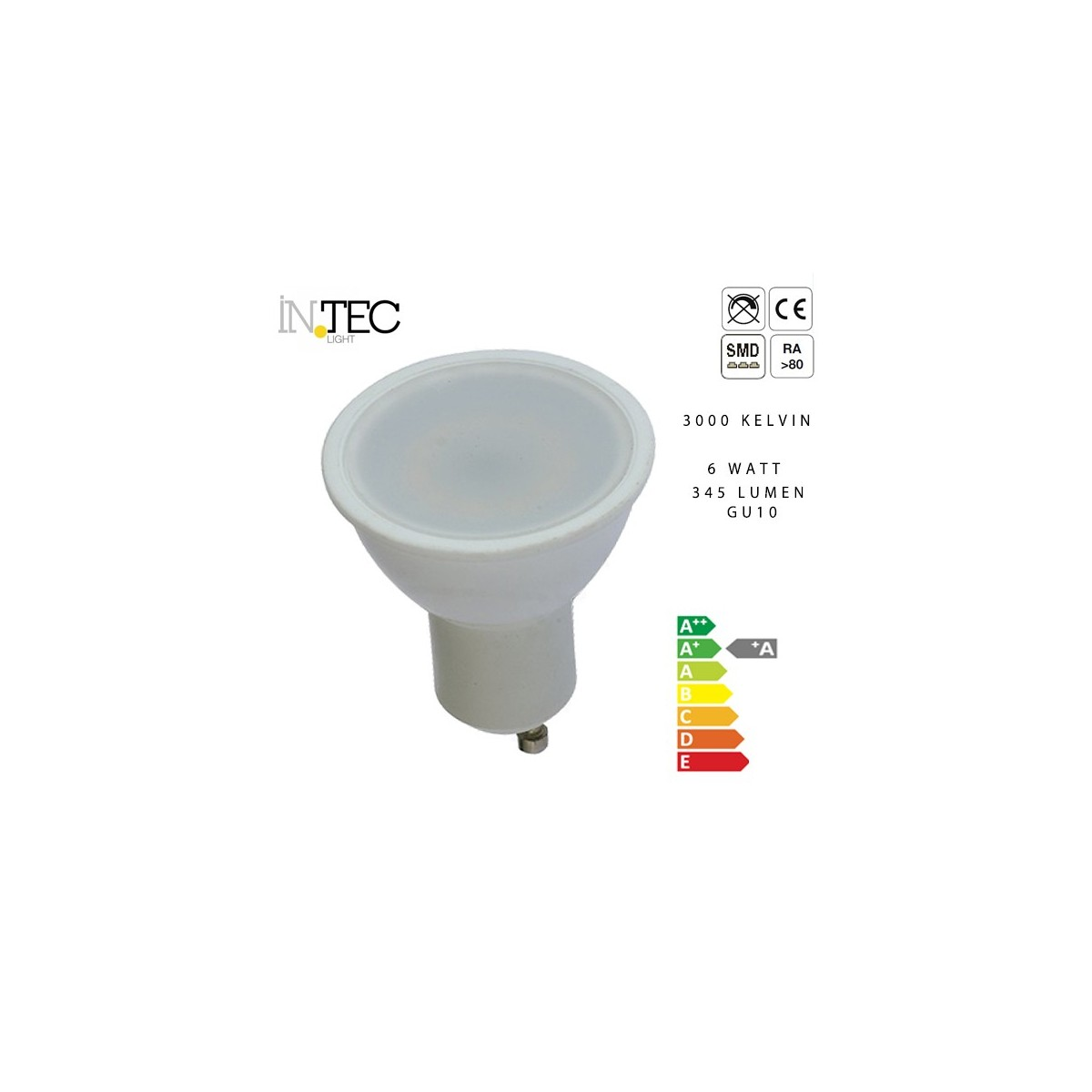Ampoule LED 6 watts Chaud froid 3000