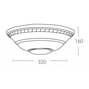 166/01200 - Applique Ceramica con...