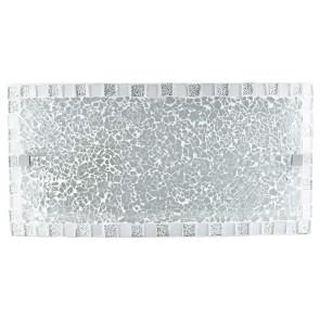 I-Mosaico / Ap - Applique murale rectangulaire avec mosaïque blanche 60 Watt E27