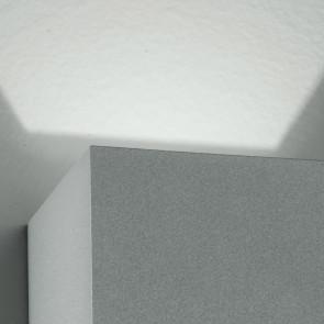 Applique murale LED couleur argent de...
