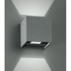 Applique led di colore silver dalla forma cubica 4 watt 3000 kelvin