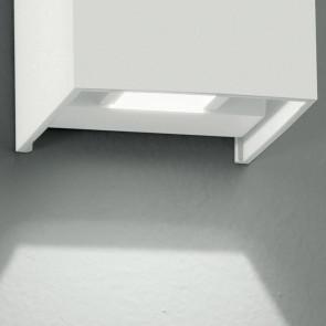 Led-W-Alfa/2W Bco - Applique Led Di Colore Bianco Dalla Forma Cubica 4 Watt 3000 Kelvin