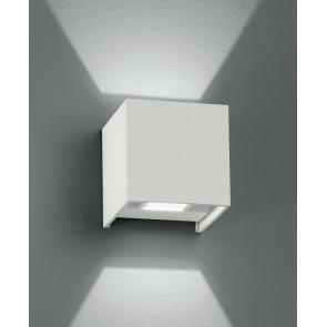 Led-W-Alfa / 2W Bco - Applique Murale Led Blanche Avec 4 Watt 3000 Kelvin Forme Cubique
