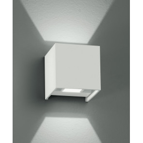 Led-W-Alfa/2W Bco - Applique Led Di Colore Bianco Dalla Forma Cubica 4 Watt 3000 Kelvin