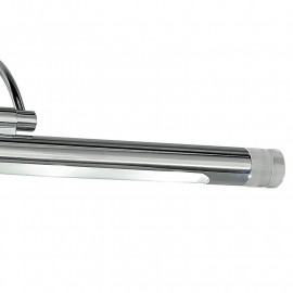 Led-W-Sigma/4W - Applique Cromata Dalla Forma Originale Con Luce Led 4 Watt 3500 Kelvin