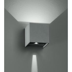 Applique cubique moderne de couleur argent avec lumière LED 6 watts 3000 kelvin