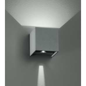 Led-W-Alfa/6W - Applique Cubica Moderna Di Colore Silver Con Luce Led 6 Watt 3000 Kelvin