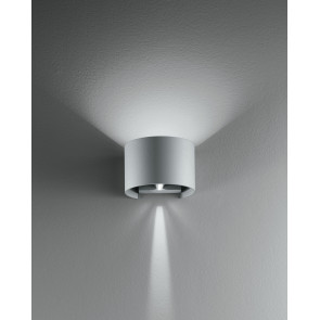 Led-W-Delta/6W - Applique Silver Con Luce Led Dalla Forma Tonda 6 Watt 3000 Kelvin