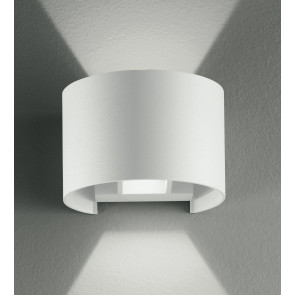 Led-W-Delta/6W Bco - Applique Bianca Con Luce Led Dalla Forma Tonda 6 Watt 3000 Kelvin