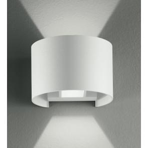 Led-W-Delta / 6W Bco - Applique blanche avec lumière LED ronde 6 Watt 3000 Kelvin