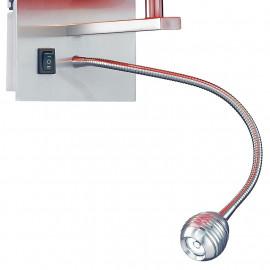 Lampe de lecture LED en aluminium réglable incluse