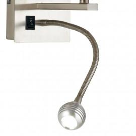 Luce Led da Lettura Orientabile Struttura in Alluminio