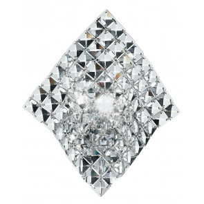 I-Rumba-H2O / Ap - Applique à la ligne douce décorée de cristaux transparents Set 42 Watt G9