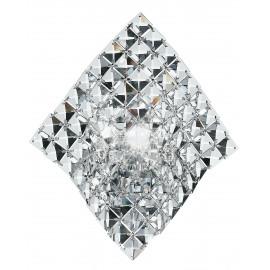 I-Rumba-H2O/Ap - Applique Dalla Linea Morbida Decorata Con Cristalli Trasparenti Incastonati 42 Watt G9