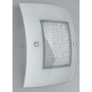 I-TRILOGY/PL50 - Plafoniera led di colore bianco dal design classico e con luminosi cristalli 46 watt