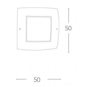 Plafonnier carré en verre avec...