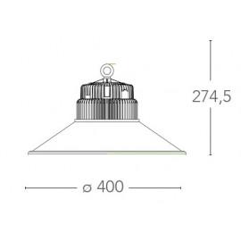 LED-FUTURA-50W - Lampadario luce led in alluminio