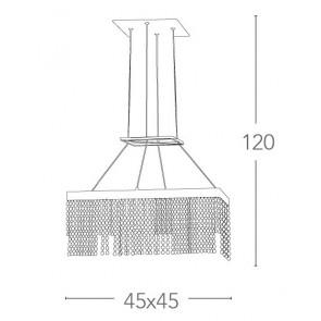 LED-LUXURY-SQ45 - Lustre à Suspension...