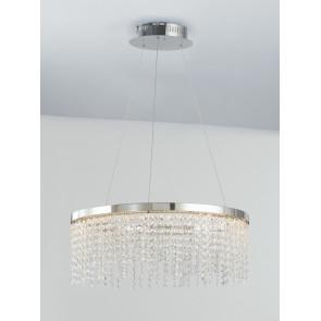 LED-VENUS-S60 - Lampadario classico con cristalli e luci led 45 watt