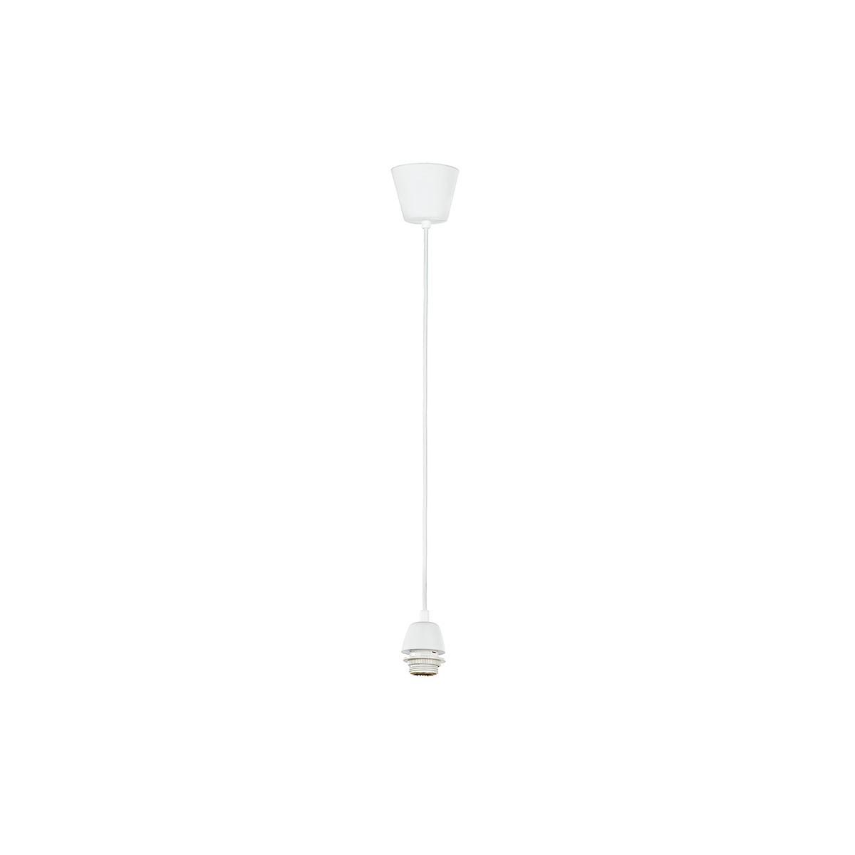 MT3202020 - Filo Pendente bianco per lampadario con attacco E27