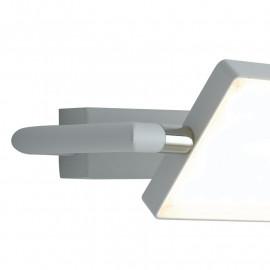 Applique murale Led-Book en aluminium blanc