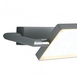 Applique a Libro in Alluminio Grigio con Diffusore Orientabile 360° FanEurope