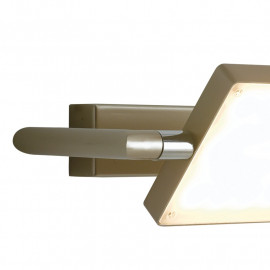 Struttura in Alluminio Oro Applique Orientabile Luce Led Fan Europe