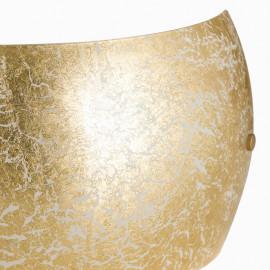 Diffuseur en verre doré et décoration en crêpe