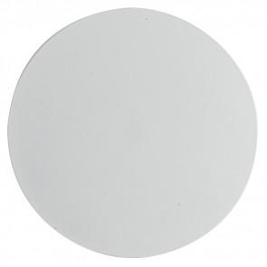 LED-ECLISSE/AP20 BCO - Applique Moderna Tonda Metallo Bianco Lampada da Parete Led 5,5 watt Luce Naturale